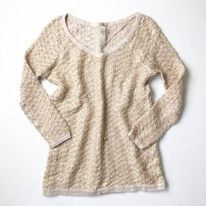 1f46d5486c Free People Sweaters - FREE PEOPLE Blush Gold Knit Sweater